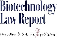 Biotechnology Law Report logo 200